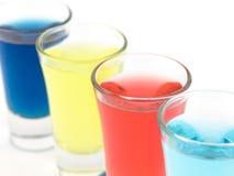Vidros de tiro coloridos Fotografia de Stock Royalty Free