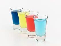 Vidros de tiro coloridos Foto de Stock Royalty Free