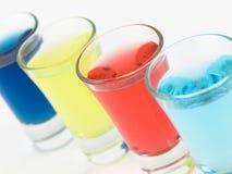Vidros de tiro coloridos Imagens de Stock