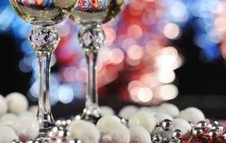 Vidros de um champanhe fotografia de stock