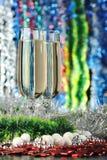 Vidros de um champanhe imagens de stock