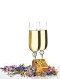 Vidros de um champanhe foto de stock