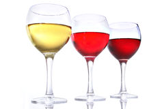 Vidros de vinho Imagem de Stock
