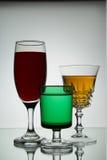 Vidros de vinho Fotografia de Stock Royalty Free