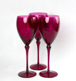 Vidros de vinho elegantes cor-de-rosa Imagens de Stock Royalty Free