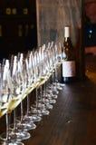 Vidros de vinho em Guadalupe Valley Imagem de Stock