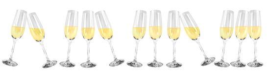 Vidros de vinho espumante Fotografia de Stock