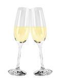Vidros de vinho espumante Fotografia de Stock Royalty Free