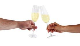 Vidros de vinho espumante Imagem de Stock Royalty Free