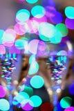 Vidros de vinho festivos Fotos de Stock