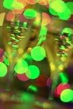 Vidros de vinho festivos, abstratos Foto de Stock