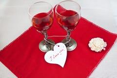 Vidros de vinho luxuosos Foto de Stock
