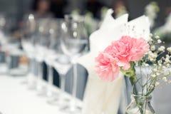 Vidros de vinho no restaurante Fotos de Stock Royalty Free