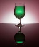 Vidros de vinho retroiluminados Foto de Stock