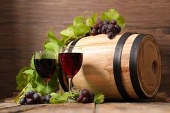 Vidros de vinho tinto Fotografia de Stock