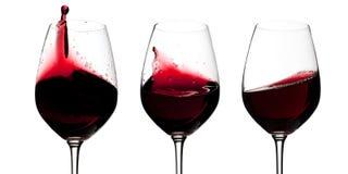 Vidros de vinho tinto Fotografia de Stock Royalty Free
