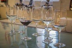 Vidros de vinho tinto Fotos de Stock Royalty Free