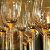 Vidros de vinho vazios Fotografia de Stock Royalty Free
