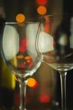Vidros de vinho vazios Foto de Stock