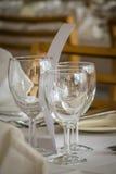 Vidros de vinho vazios Fotografia de Stock