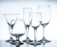 Vidros de vinho vazios Fotos de Stock Royalty Free