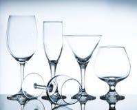 Vidros de vinho vazios Imagem de Stock Royalty Free