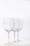 Vidros de vinho vazios isolados Imagens de Stock
