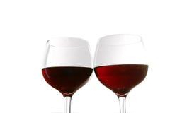 Vidros de vinho vermelho foto de stock royalty free