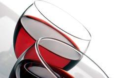 Vidros de vinho vermelho Fotografia de Stock