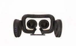 Vidros de VR ou capacete dos auriculares da realidade virtual isolado no fundo branco Imagem de Stock Royalty Free