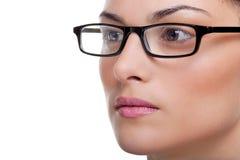 Vidros desgastando da mulher imagem de stock royalty free