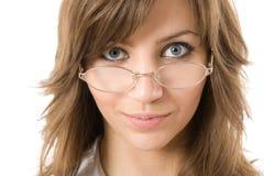 Vidros desgastando da mulher de negócios Fotos de Stock Royalty Free