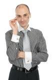 Vidros desgastando do homem de negócios novo imagem de stock