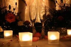 Vidros do brinde do casamento Imagens de Stock Royalty Free
