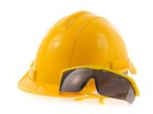 Vidros do capacete e de segurança Imagem de Stock Royalty Free