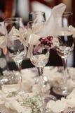 Vidros do casamento imagem de stock