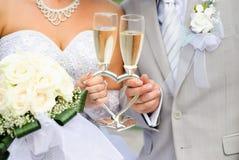 Vidros do casamento fotografia de stock