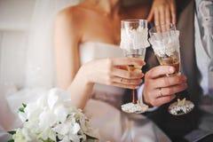 Vidros do casamento imagem de stock royalty free