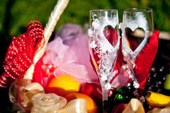 Vidros do casamento Imagens de Stock Royalty Free