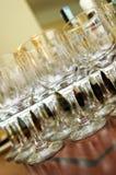 Vidros do casamento Fotografia de Stock Royalty Free