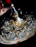 Vidros do chá em Marrocos foto de stock royalty free