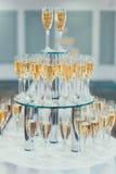 Vidros do champanhe Fotografia de Stock