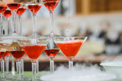 Vidros do champanhe do casamento Fotografia de Stock Royalty Free