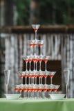 Vidros do champanhe do casamento Fotos de Stock Royalty Free