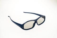 vidros do cinema 3D - azul Foto de Stock Royalty Free