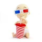 Vidros do cinema do bebê 3d ilustração royalty free