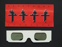 Vidros do concerto de Kraftwerk 3D Imagens de Stock Royalty Free