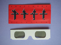 Vidros do concerto de Kraftwerk 3D Fotos de Stock