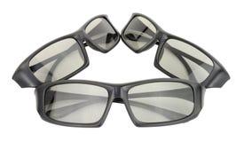 vidros do home entertainment 3D fotos de stock