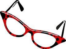 Vidros do Ladybug ilustração stock